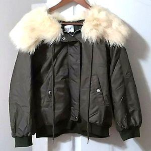 NWOT Olive bomber jacket